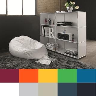 System4 Prestigious Elite Steel Side Board, TV Media, Open Bookshelves with 6 Shelves
