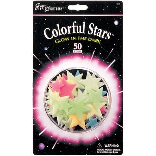 Glow In The Dark Pack-Colorful Stars 50/Pkg