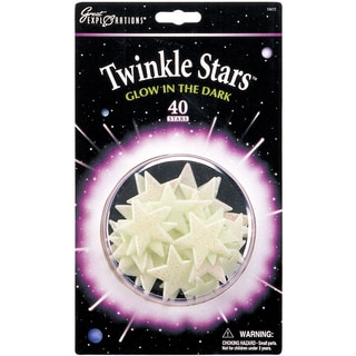 Glow In The Dark Pack-Twinkle Stars 40/Pkg