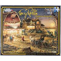 """Jigsaw Puzzle Terry Redlin 1000 Pieces 24""""X30""""-Harvest Moon Ball"""