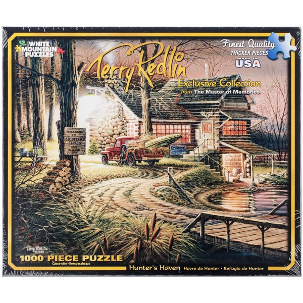 Jigsaw Puzzle Terry Redlin 1000 Pieces 24 x 30 Hunter's Haven