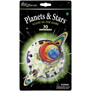 Glow In The Dark Pack-Planets & Stars 30/Pkg