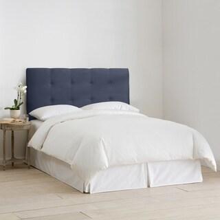 Skyline Furniture Upholstered Headboard in Micro-Suede Lazuli Blue