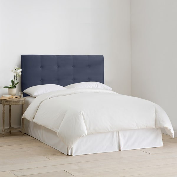 Skyline Furniture Upholstered Headboard in Micro-Suede Lazuli Blue