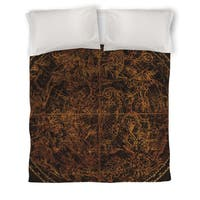 Northern Celestial Sphere Vintage Duvet Cover