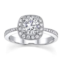 18k White Gold 1 1/3ct TDW Diamond Engagement Ring