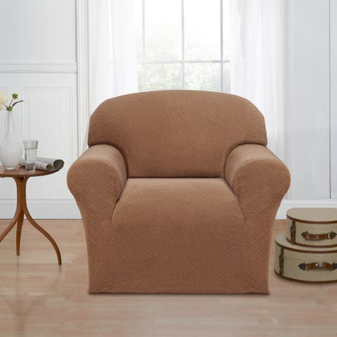 Sanctuary Basketweave Stretch Chair Slipcover