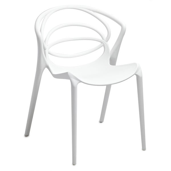 Orion White Stackable Accent Chairs (Set of 2)