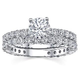 14k White Gold 2 1/5ct TDW Diamond Bridal Ring Set (G-H, SI1-SI2)