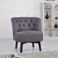 Gold Sparrow Raleigh Beige Swivel Chair Free Shipping
