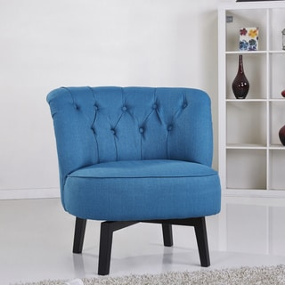 Gold Sparrow Raleigh Blue Swivel Chair