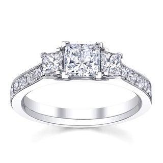 14k White Gold 1 1/2ct TDW Anniversary Diamond Engagement Ring