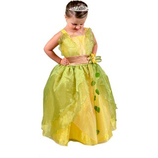 Sweetie Pie Girls Yellow and Green Princess Dress