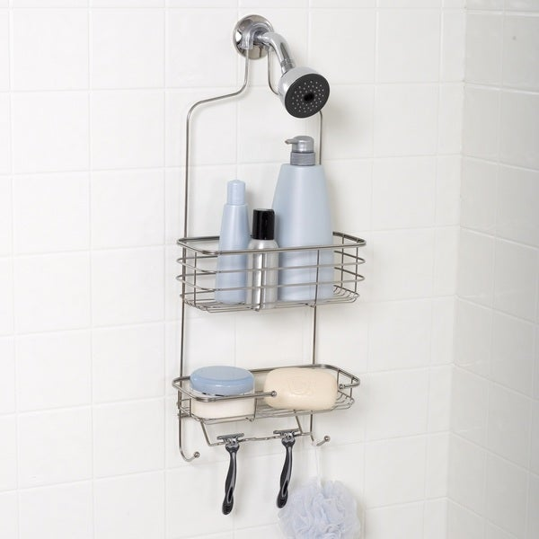 Zenith Extra Large Stainless Steel Shower Head Caddy   Free Shipping On  Orders Over $45   Overstock.com   16743517