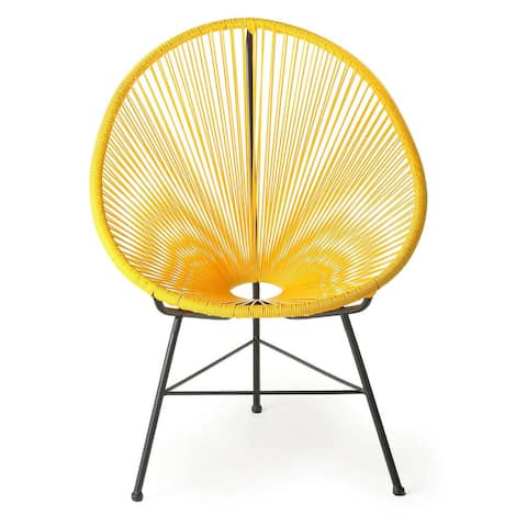 Handmade Acapulco Yellow Lounge Chair