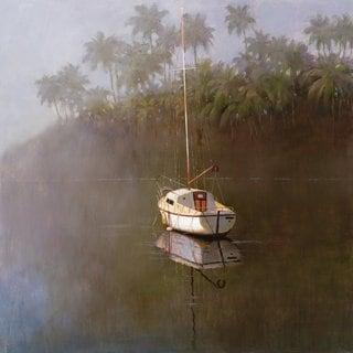 Portfolio Canvas Decor  'Sailboat at Anchor' Large Printed Canvas Wall Art