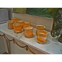 Handmade Set of 8 Hand-polished Lotus Cups (Egypt)
