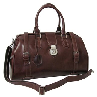 Amerileather Langam 17-inch Carry On Leather Duffel Bag