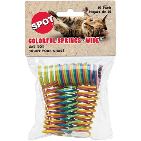 10-Piece Colorful Springs Cat Toys