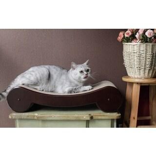 Merry Products Wood Veneer Cat Scratcher Bed
