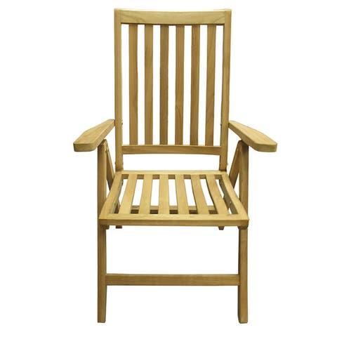 Handmade D-Art Teak Beachside Position Deck Chair (Indonesia)