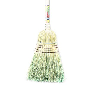 "Boardwalk Warehouse Broom, Corn Fiber Bristles, 56"" Overall Length, Natural"