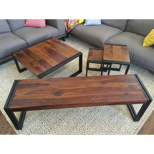 Handmade Timbergirl Sheesham Wood Dining Table (India)   Free Shipping  Today   Overstock.com   16743653