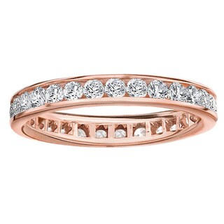 Amore 14k or 18k Rose Gold 1ct TDW Channel-set Diamond Wedding Band (G-H, SI1-SI2)