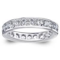 Amore 14k or 18k White Gold 2ct TDW Channel-set Diamond Wedding Band