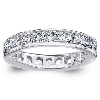Amore 14k or 18k White Gold 2ct TDW Channel-set Diamond Wedding Band