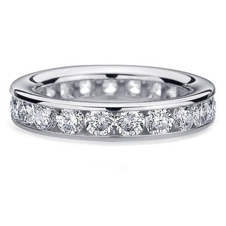 Amore 14k or 18k White Gold 3ct TDW Channel-set Diamond Wedding Band (G-H, SI1-SI2)