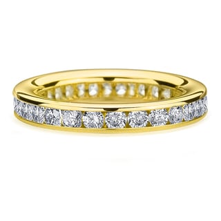 Amore 14k or 18k Yellow Gold 1 1/2ct TDW Channel Set Diamond Wedding Band