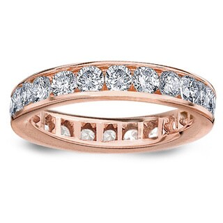 Amore 14k/ 18k Rose Gold 2ct TDW Channel-set Diamond Wedding Band (G-H, SI1-SI2)