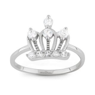 Junior Jewels Sterling Silver Cubic Zirconia Royal Crown Ring