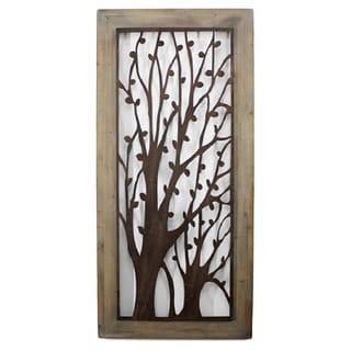 Tree Motif Shadow-box Style Wall Plaque