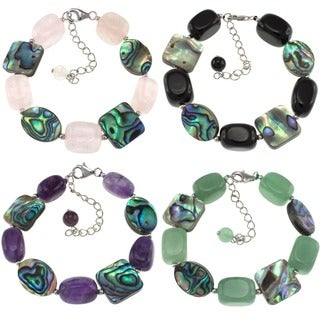 Pearlz Ocean Abalone and Gemstone Bracelet