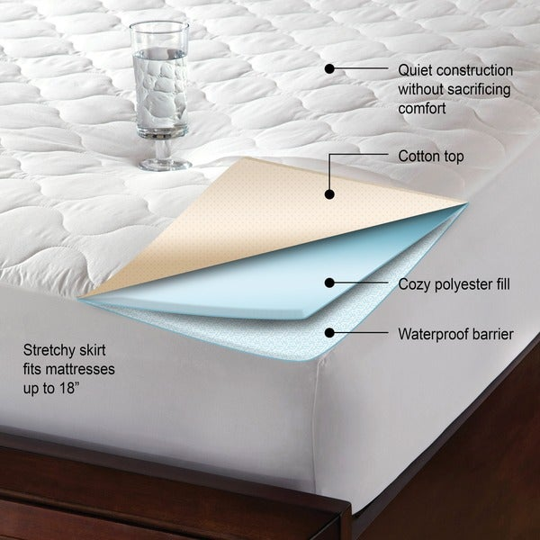 iDEAL Comfort Quiet Waterproof Mattress Pad Free Shipping On