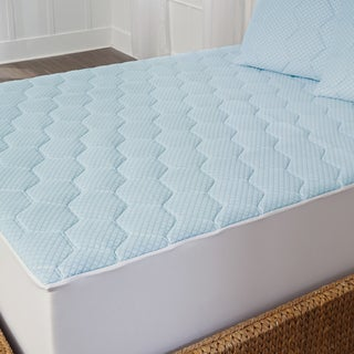 Arctic Sleep Cool Gel Memory Foam Mattress Pad - Blue