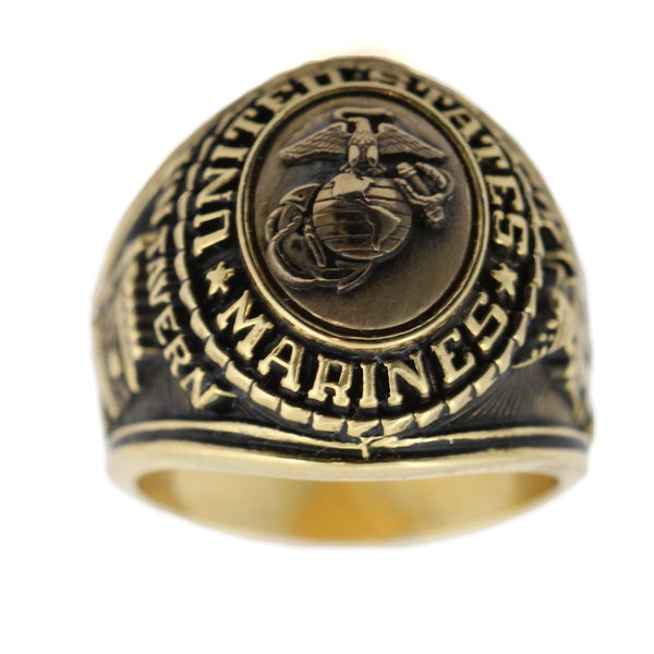 US Marines Antique Goldtone Insignia Ring