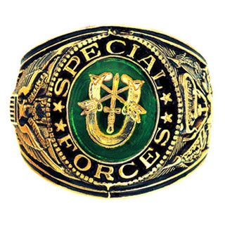 Shop Official Us Special Forces Antiqued Goldtone Ring