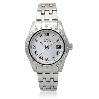 Invicta Women's 17487 'Angel' Stainless Steel Rhinestone Chronograph Watch