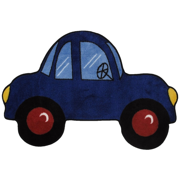 Shop Car Blue Nylon Accent Rug