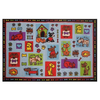 All About Dogs Accent Area Rug (3'3 x 4'8)