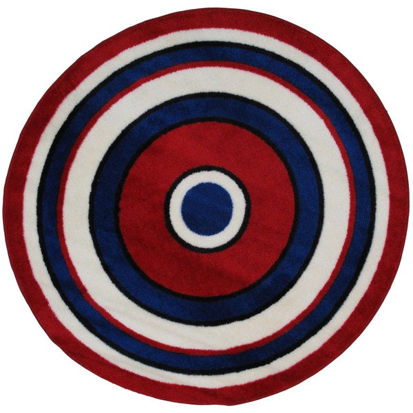 Striped Red Round Accent Rug 4 2 On Free Shipping Today 9563173