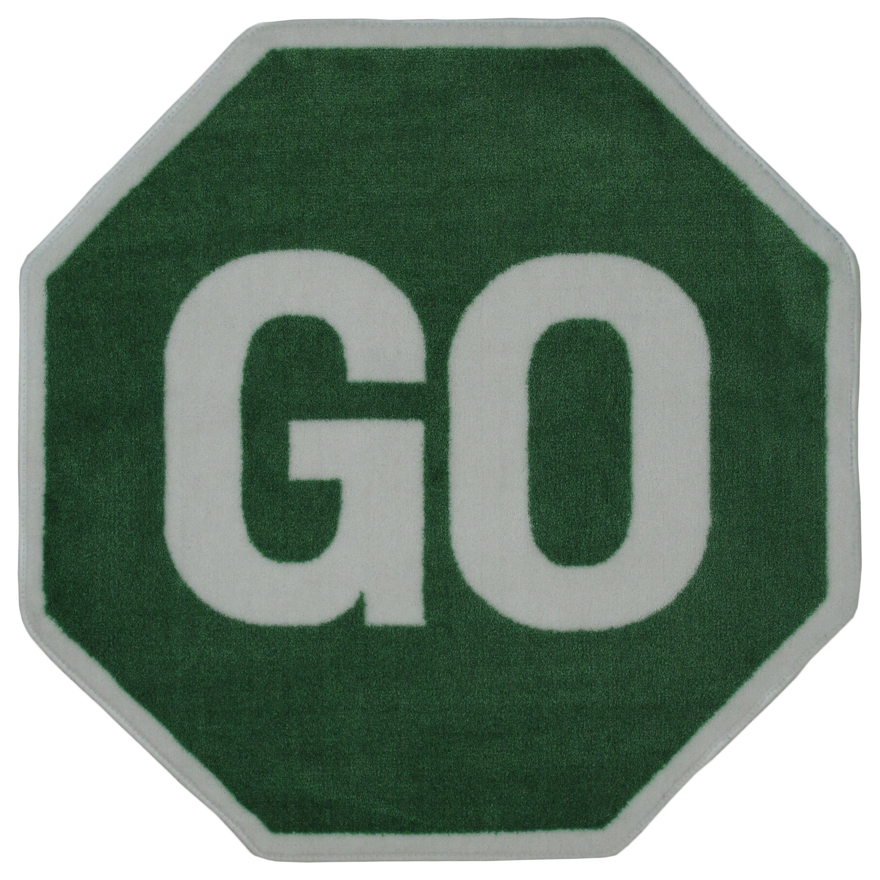 Kids Novelty Green Go Sign Accent Rug