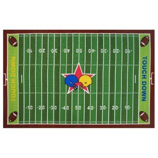 Football Field Green Accent Rug (3'3 x 4'8)