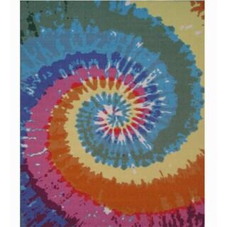 "Colorburst Multi-colored Accent Rug (3'3 x 4'8) - 3'3"" x 4'8"""