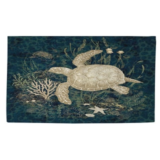 Thumbprintz Sea Turtle Vignette Rug (2' x 3')