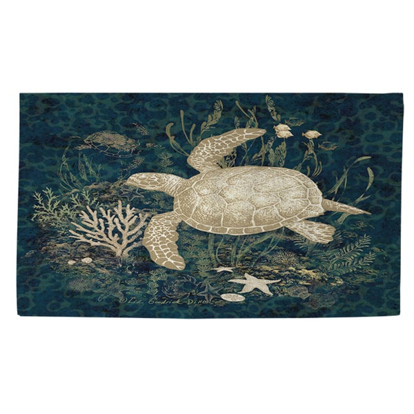 Shop Sea Turtle Vignette Rug (2' X 3')