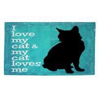I Love My Cat Rug - 2' x 3'